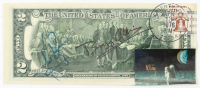 Neil Armstrong & Buzz Aldrin Signed $2 Dollar Bill (JSA ALOA) at PristineAuction.com