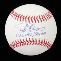 "Rafael Palmeiro Signed OML Baseball Inscribed ""3,020 Hits / 569 HRs"" (JSA COA) at PristineAuction.com"