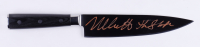 """Nick Castle Signed """"Halloween"""" Replica Stainless Steel Knife Inscribed """"The Shape"""" (Beckett Hologram) at PristineAuction.com"""