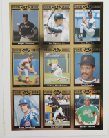Uncut Sheet of (9) 1992 Cartwrights Players Choice Gold Cards with #20 Cal Ripken Jr., #23 Rickey Henderson, #27 Ryne Sandberg at PristineAuction.com