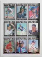 Uncut Sheet of (9) 1992 Cartwrights Players Choice Silver Cards with #9 Chipper Jones, #7 Ryan Klesko, #6 Bret Boone at PristineAuction.com