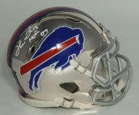 "Thurman Thomas Signed Bills Chrome Speed Mini Helmet Inscribed ""HOF 07"" (JSA COA) at PristineAuction.com"