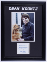 """Dean Koontz Signed 15.5x20.5 Custom Framed Cut Display Inscribed """"To Todd and Rae - May You Always Be Safe From Goblins"""" (JSA COA) (See Description) at PristineAuction.com"""