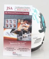 "Jason Taylor Signed Dolphins Lunar Eclipse Alternate Speed Mini Helmet Inscribed ""HOF 17"" (JSA COA) at PristineAuction.com"