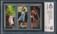 LeBron James 111 / Carmelo Anthony 113 / Dwyane Wade 115 2003-04 Topps Rookie Matrix #JAW RC (BCCG 10) at PristineAuction.com