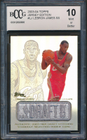 LeBron James 2003-04 Topps Jersey Edition #LJ SS RC (BCCG 10) at PristineAuction.com