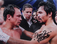 """Manny Pacquiao Signed 11x14 Photo Inscribed """"Pacman"""" (Pacquiao COA) at PristineAuction.com"""