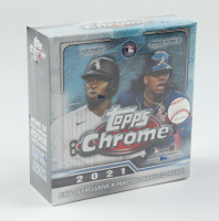 2021 Topps Chrome Baseball Mega Box with (10) Packs at PristineAuction.com