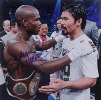 """Manny Pacquiao Signed 10x10 Photo Inscribed """"Pacman"""" (Pacquiao COA) at PristineAuction.com"""