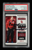 Barry Switzer Signed 2018 Panini Contenders Draft Picks #9 (PSA Encapsulated) at PristineAuction.com