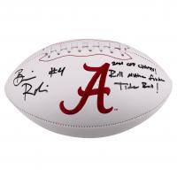 "Brian Robinson Signed Alabama Crimson Tide Logo Football Inscribed ""2021 CFP Champs!"" & ""Roll M*****F****** Tide Roll!""  (Beckett COA) at PristineAuction.com"
