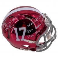 "Brian Robinson Signed Alabama Crimson Tide Chrome Speed Mini Helmet Inscribed ""2021 CFP Champs!"" & ""Roll M*****F****** Tide Roll!"" (Beckett COA) at PristineAuction.com"