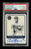 Carl Erskine Signed 2001 Greats of the Game #106 (PSA Encapsulated) at PristineAuction.com