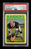Jim Otto Signed 1972 Topps #86 (PSA Encapsulated) at PristineAuction.com