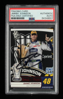 Jimmie Johnson Signed 2009 Press Pass Red #187 (PSA Encapsulated) at PristineAuction.com