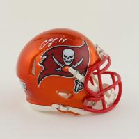Chris Godwin Signed Buccaneers Flash Alternate Speed Mini Helmet (Beckett Hologram) at PristineAuction.com