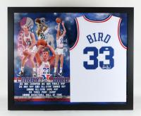 Larry Bird Signed All-Star 35.5x43.5 Custom Framed Jersey Display (JSA Hologram) at PristineAuction.com