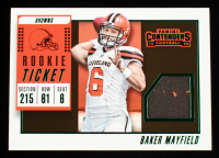 Baker Mayfield 2018 Panini Contenders Rookie Ticket Swatches #1 at PristineAuction.com