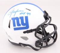 "Lawrence Taylor Signed Giants Lunar Eclipse Alternate Speed Mini Helmet Inscribed ""HOF 99"" (Beckett COA) at PristineAuction.com"