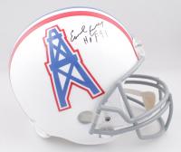 "Earl Campbell Signed Oilers Full-Size Throwback Helmet Inscribed ""HOF 91"" (TriStar Hologram) at PristineAuction.com"
