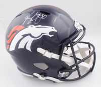 Phillip Lindsay Signed Broncos Full-Size Speed Helmet (JSA COA) at PristineAuction.com