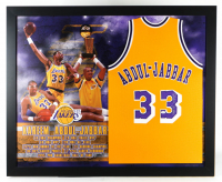 Kareem Abdul-Jabbar Signed 35.5x43.5 Custom Framed Jersey Display (JSA COA) at PristineAuction.com