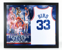 Larry Bird Signed All-Star 35.5x43.5 Custom Framed Jersey Display (JSA COA) at PristineAuction.com