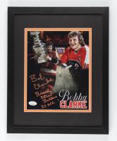 "Bobby Clarke Signed Flyers 12x15 Custom Framed Photo Inscribed ""Broad Street Bullies"" & ""2x S.C.C."" (JSA COA) at PristineAuction.com"