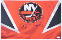 Clark Gillies & Bryan Trottier Signed Islanders 11x17 Photo (JSA COA) (See Description) at PristineAuction.com