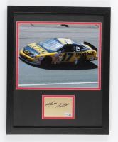 Matt Kenseth Signed NASCAR 12x15 Custom Framed Cut Display (Fanatics Hologram) at PristineAuction.com