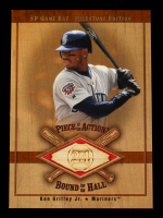 Ken Griffey Jr. 2001 SP Game Bat Milestone Piece of Action Bound for the Hall #BKGM M's at PristineAuction.com