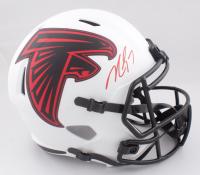 Michael Vick Signed Falcons Full-Size Lunar Eclipse Alternate Speed Helmet (JSA COA) at PristineAuction.com