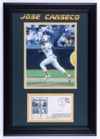 Jose Canseco Signed Athletics 14x20 Custom Framed FDC Envelope Display (JSA COA) (See Description) at PristineAuction.com