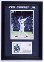 Ken Griffey Jr. Signed Mariners 14x20 Custom Framed FDC Envelope Display (JSA COA) (See Description) at PristineAuction.com