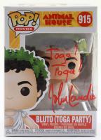 "John Landis Signed ""Animal House"" #915 Bluto (Toga Party) Funko Pop! Vinyl Figure Inscribed ""Toga! Toga!"" (JSA COA) at PristineAuction.com"