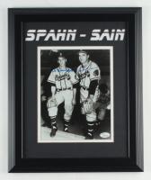 Warren Spahn & Johnny Sain Signed Braves 13.5x16.5 Custom Framed Photo (JSA COA) at PristineAuction.com