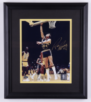 Rick Barry Signed Warriors 13x15 Custom Framed Photo (Mounted Memories COA) (See Description) at PristineAuction.com