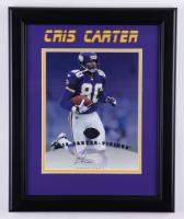Cris Carter Signed Vikings 13x15 Custom Framed Photo (Leaf Hologram) (See Description) at PristineAuction.com