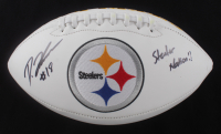 "Diontae Johnson Signed Steelers Logo Football Inscribed ""Steeler Nation!!"" (Beckett Hologram) (See Description) at PristineAuction.com"