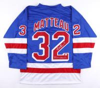 "Stephane Matteau Signed Jersey Inscribed ""94 SL Champs"" (JSA COA) at PristineAuction.com"