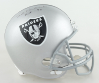 "Ted Hendricks Signed Raiders Full-Size Helmet Inscribed ""HOF 90"" (Schwartz COA) at PristineAuction.com"