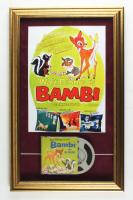 "Walt Disney's ""Bambi"" 16x25.5 Custom Framed Vintage 8mm Film Reel Display at PristineAuction.com"