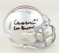 "Garrett Wilson Signed Ohio State Buckeyes Speed Mini Helmet Inscribed ""Go Bucks"" (JSA COA) at PristineAuction.com"
