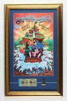 "Disneyworld's ""Splash Mountain"" 15.5x24.5 Print Display with Vintage Disney World Ticket Book & Retired Brer Rabbit Bronze Pin at PristineAuction.com"