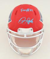 "Jonnu Smith Signed Patriots Speed Mini Helmet Inscribed ""Easy $"" (Beckett COA) at PristineAuction.com"