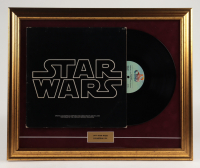 "Vintage 1977 ""Star Wars"" 19x23 Custom Framed Vinyl Soundtrack Record Album Display at PristineAuction.com"