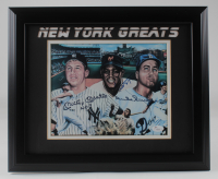 Mickey Mantle, Duke Snider, & Willie Mays Signed 13.5x16.5 Framed Photo (JSA LOA) at PristineAuction.com