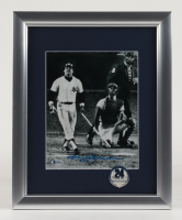 Reggie Jackson Signed Yankees 13x16 Custom Framed Display with Official Yankees World Series Pin (Beckett COA) (See Description) at PristineAuction.com