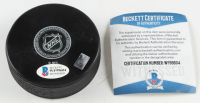 Grant Fuhr Signed Maple Leafs Logo Hockey Puck (Beckett COA) at PristineAuction.com