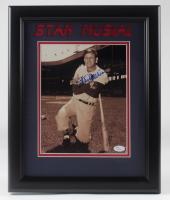 Stan Musial Signed Cardinals 13.5x16.5 Framed Photo (JSA Hologram) at PristineAuction.com